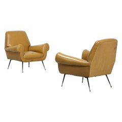 Vintage Pair of Armchairs, Italy, 1950s