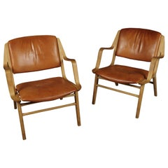 "Vintage Pair of ""Ax"" Lounge Chairs by Peter Hvidt, Denmark, 1970s"