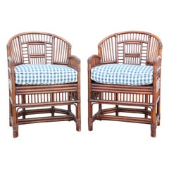 Vintage Pair of Bamboo Brighton Chairs