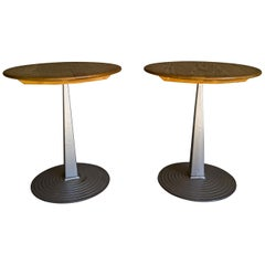 Vintage Pair of Bistro Tables from Sweden, circa 1960
