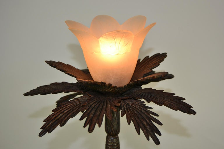Pair of Brutalist Palm Tree Table Lamps, 1950s For Sale 2