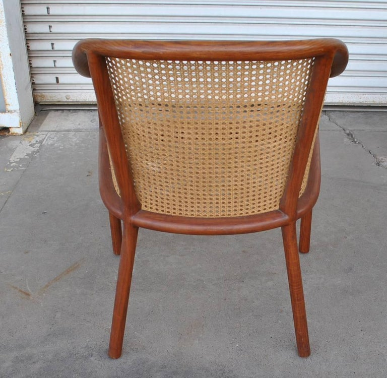 Late 20th Century Vintage Pair of Cane Chairs by Ward Bennett for Brickel Associates For Sale