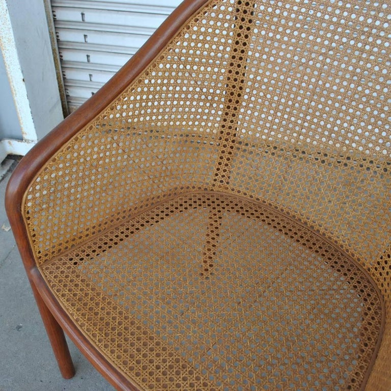 Vintage Pair of Cane Chairs by Ward Bennett for Brickel Associates For Sale 2