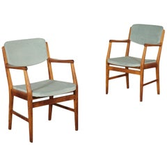 Vintage Pair of Chairs, Italy, 1950s