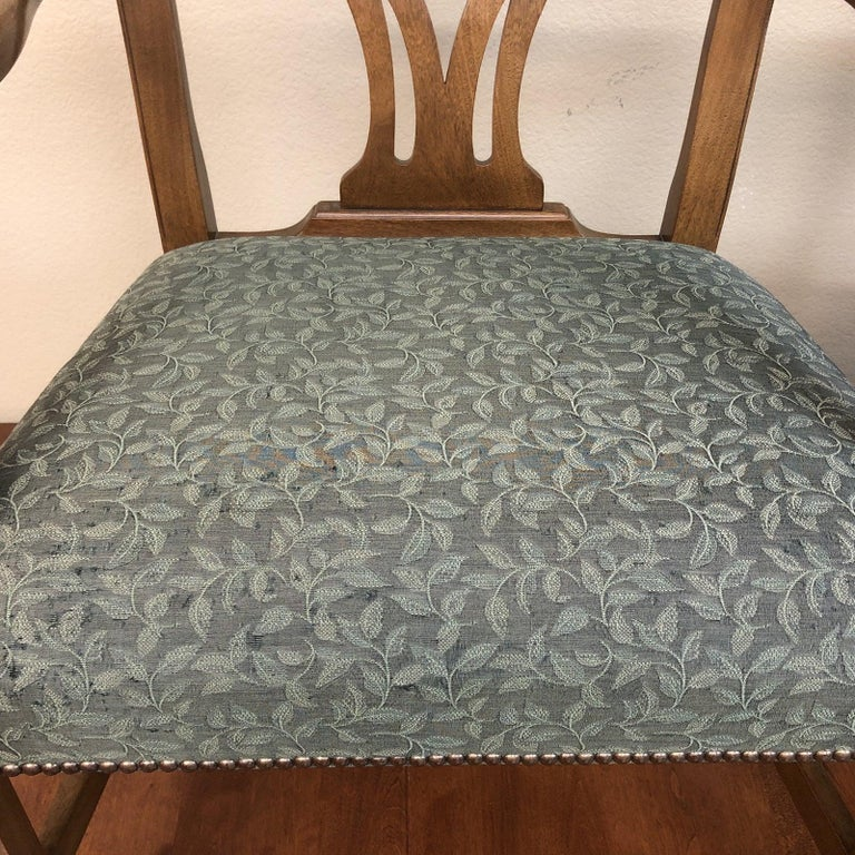 Vintage Pair Of Chippendale Armchairs By Baker Furniture In Good Condition For San Francisco