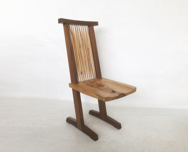 Vintage Pair of Conoid Chairs, after George Nakashima For Sale 4