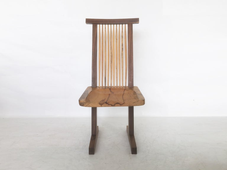 Hand-Crafted Vintage Pair of Conoid Chairs, after George Nakashima For Sale
