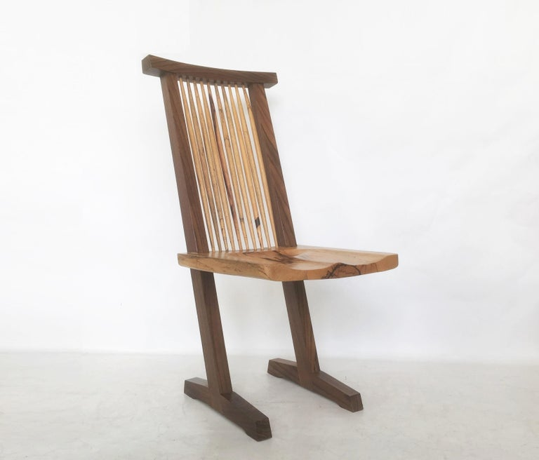 Vintage Pair of Conoid Chairs, after George Nakashima For Sale 3
