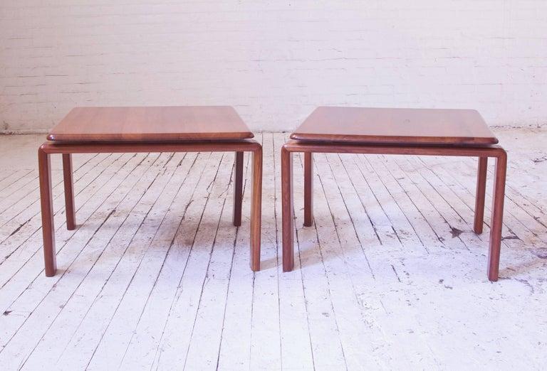 Scandinavian Modern Vintage Pair of Danish Modern Side Tables in Teak, Denmark, 1970s For Sale