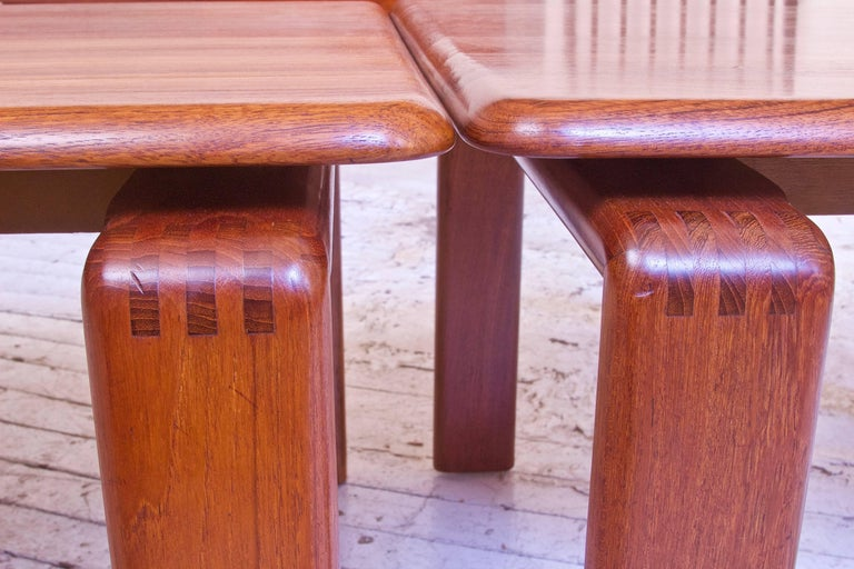 Vintage Pair of Danish Modern Side Tables in Teak, Denmark, 1970s In Excellent Condition For Sale In Brooklyn, NY