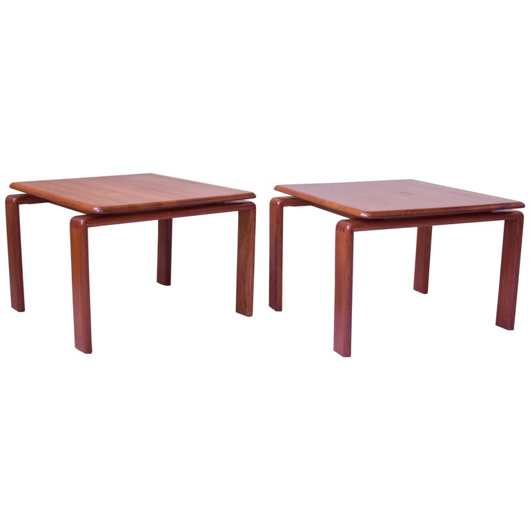 Vintage Pair of Danish Modern Side Tables in Teak, Denmark, 1970s For Sale