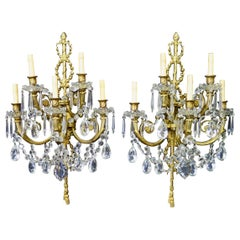 Vintage Pair of Elaborate French Louis XV Style Wall Sconces