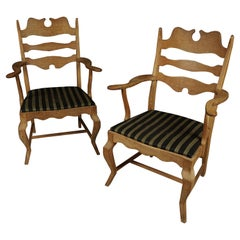 "Vintage Pair of Henning Kjaernulf ""Razor"" Lounge Chairs, From Denmark, 1970s"
