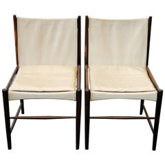 Vintage Pair of Jacaranda 'Cantu' Chairs by Sergio Rodrigues for OCA,Brazil 1958