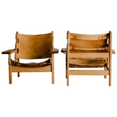 Vintage Pair of Kurt Østervig Hunting Chairs from Denmark, 1960s