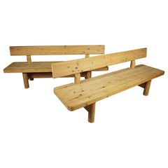 Vintage Pair of Large Benches Designed by Rainer Daumiller, Denmark, 1970s