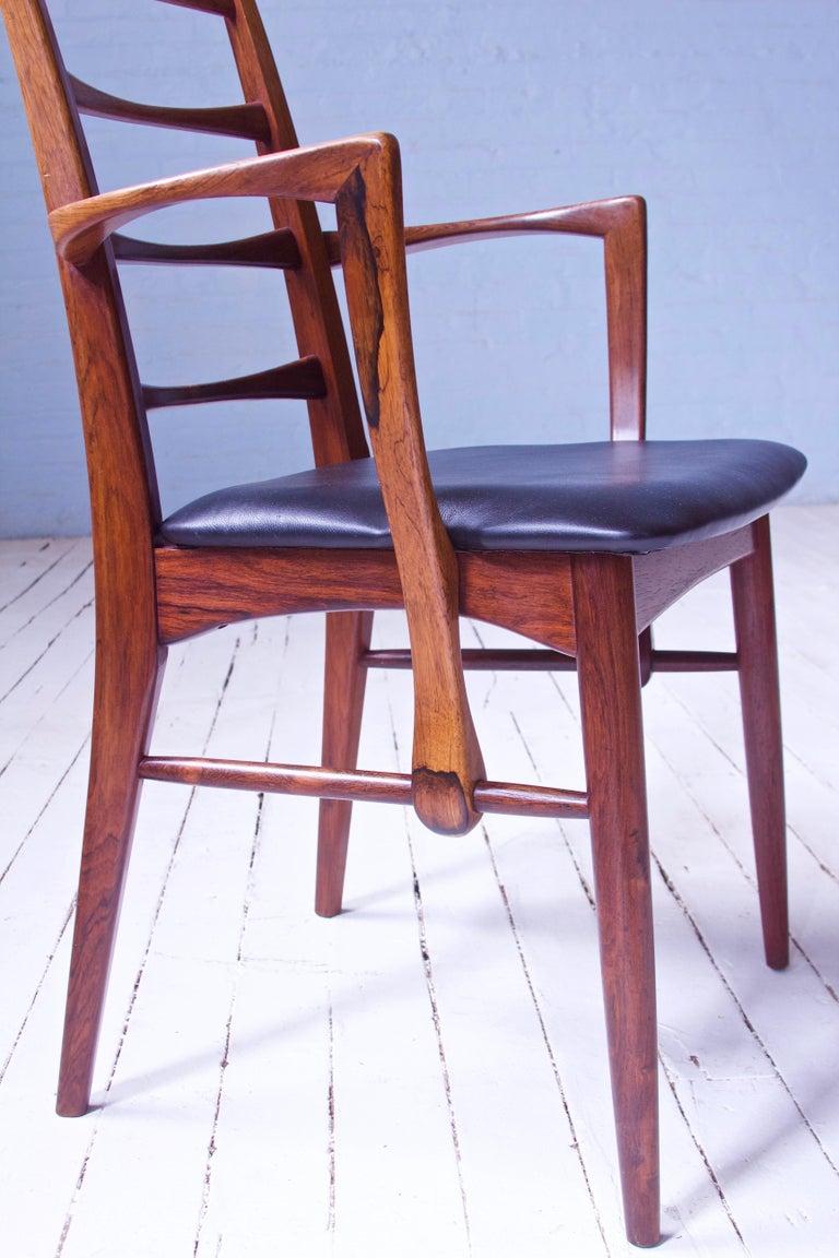 Polished Vintage Pair of 'Lis' Chairs by Niels Koefoed for Koefoeds Møbelfabrik, 1968