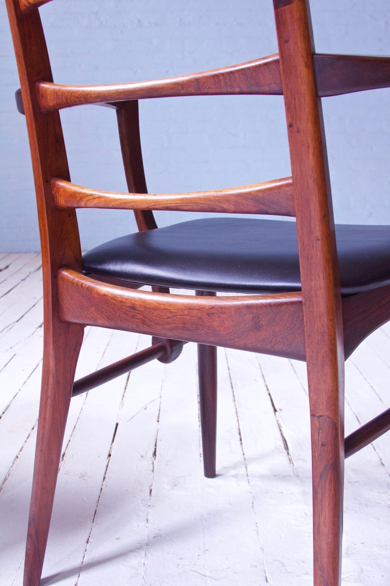 Vintage Pair of 'Lis' Chairs by Niels Koefoed for Koefoeds Møbelfabrik, 1968 In Excellent Condition In Brooklyn, NY