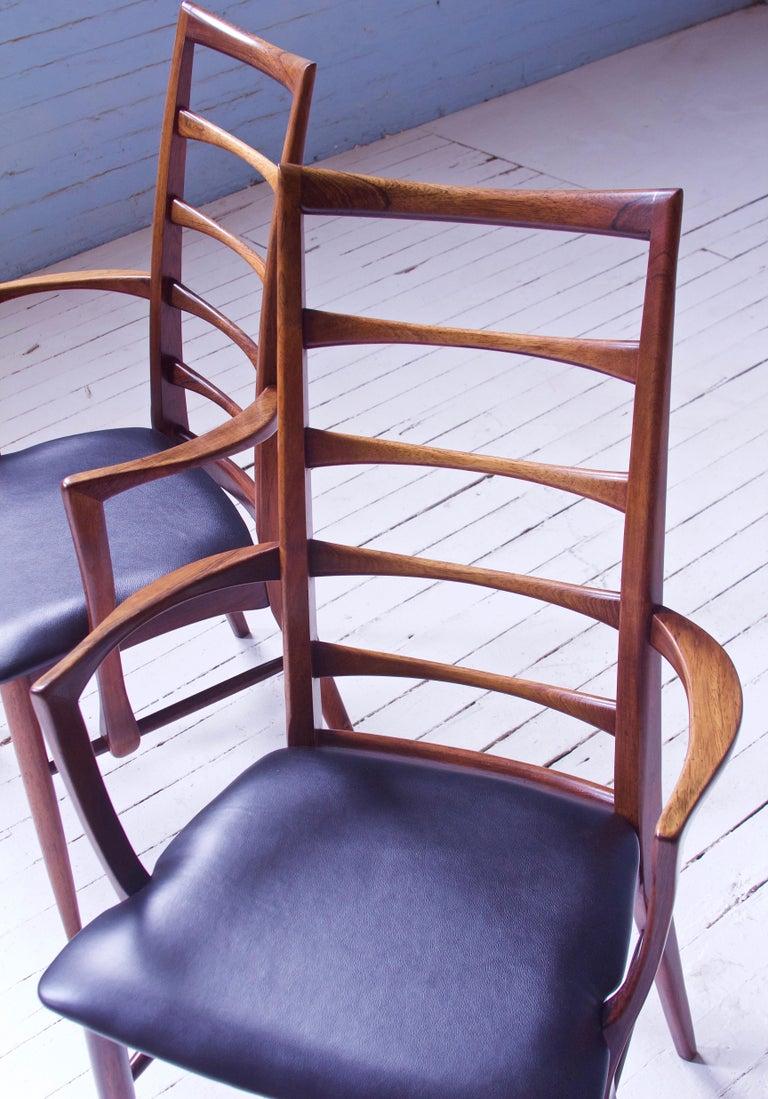 Leather Vintage Pair of 'Lis' Chairs by Niels Koefoed for Koefoeds Møbelfabrik, 1968