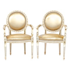 Vintage Pair of Louis XVI Armchairs