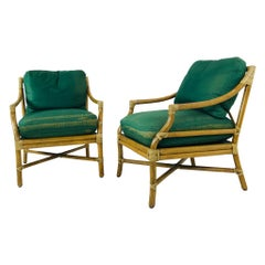 Vintage Pair of McGuire Chairs