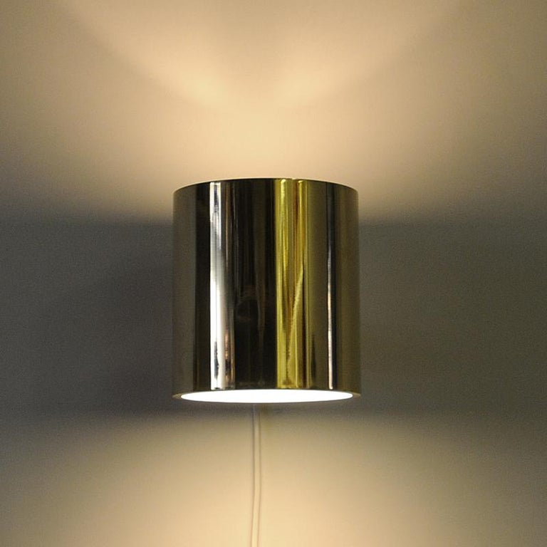 Vintage Pair of Opaline Glass and Brass Falkenberg Wall Lamps, Sweden, 1960s For Sale 2