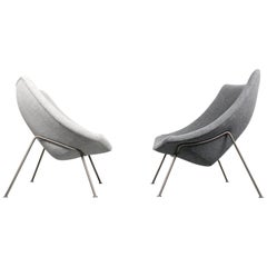 Vintage Pair of Oyster Chairs 'Big & Little' by Pierre Paulin, Artifort, 1960s