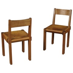 Vintage Pair of Pierre Chapo Chairs Model S24, France, circa 1970