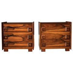 Vintage Pair of Rosewood Inter-Continental Design Limited Nightstands