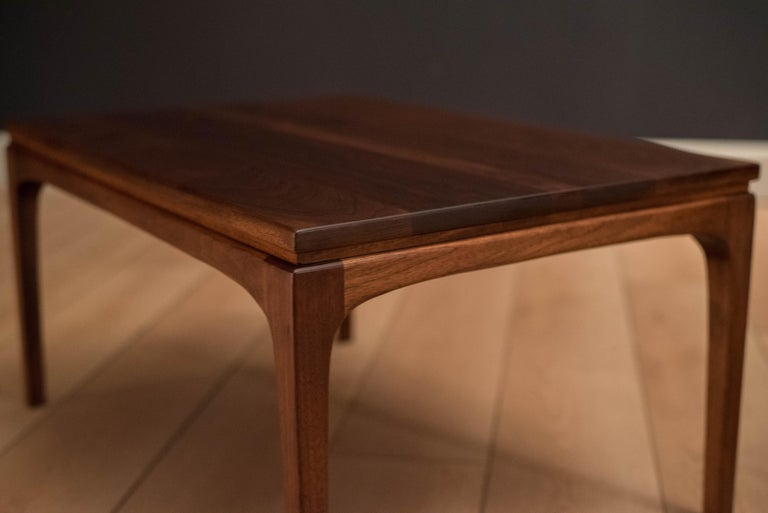 Mid Century Modern Vintage Pair Of Solid Walnut End Tables For