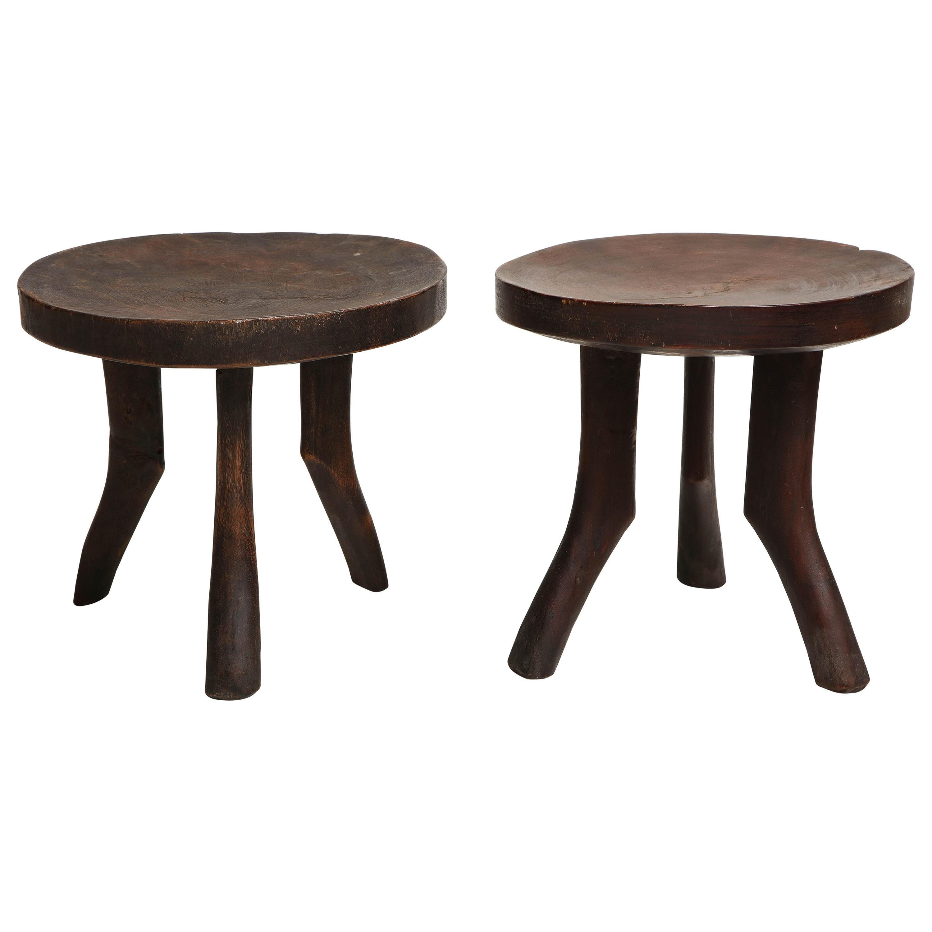 Pair of Vintage Stools in the Perriand Manner
