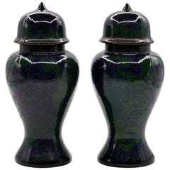 Vintage Pair of Terracotta Vases, Holland, 1920s