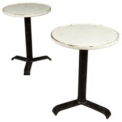Vintage Pair of Tolix Bistro Tables from France, circa 1960