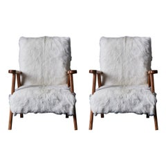 Vintage Pair of Wooden Armchairs at Cost Price