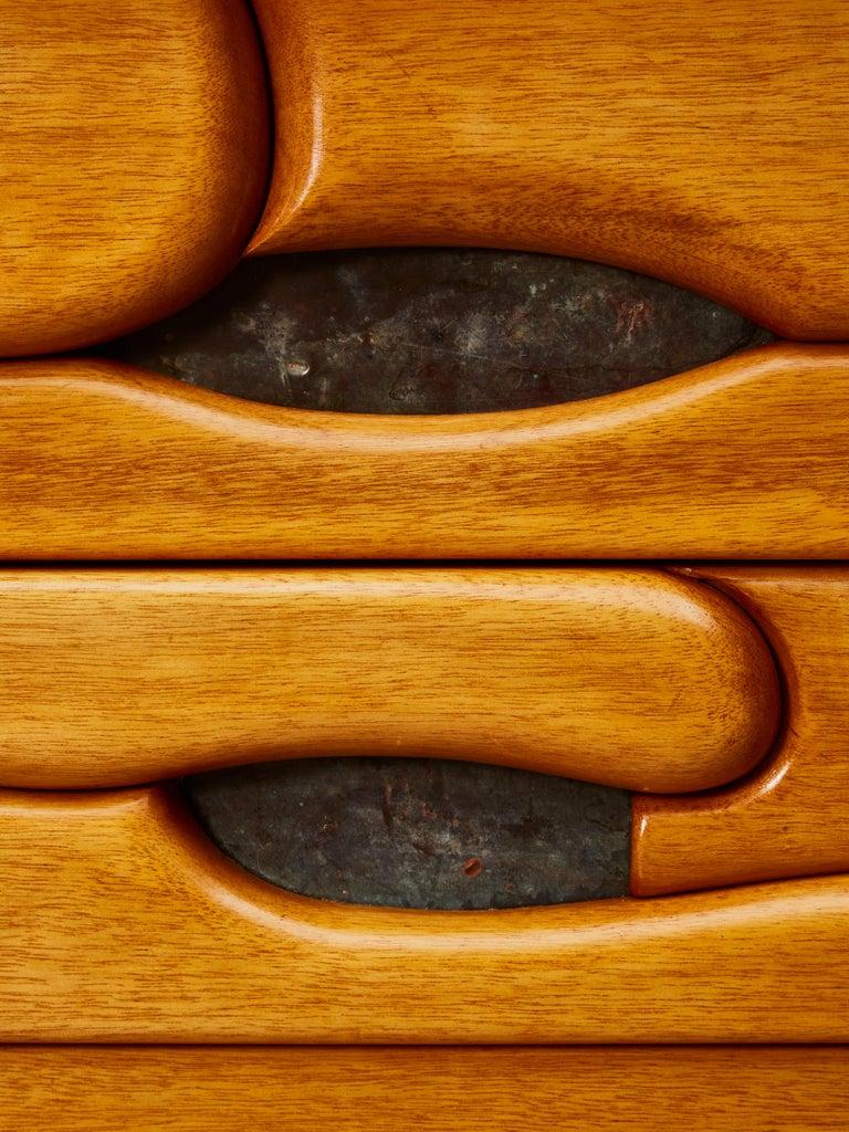 Vintage Pair of Wooden Bedside Tables For Sale 1