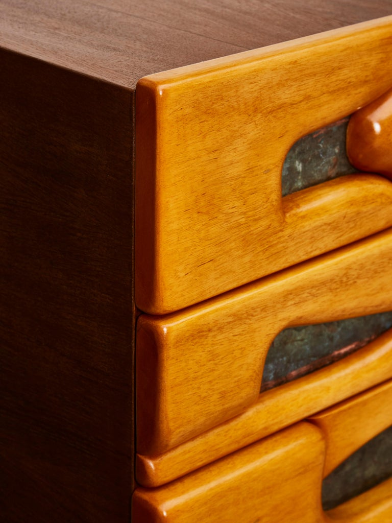 Vintage Pair of Wooden Bedside Tables For Sale 2