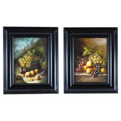 Vintage Pair Oil Paintings in the Manner of Oliver Clare, 20th Century