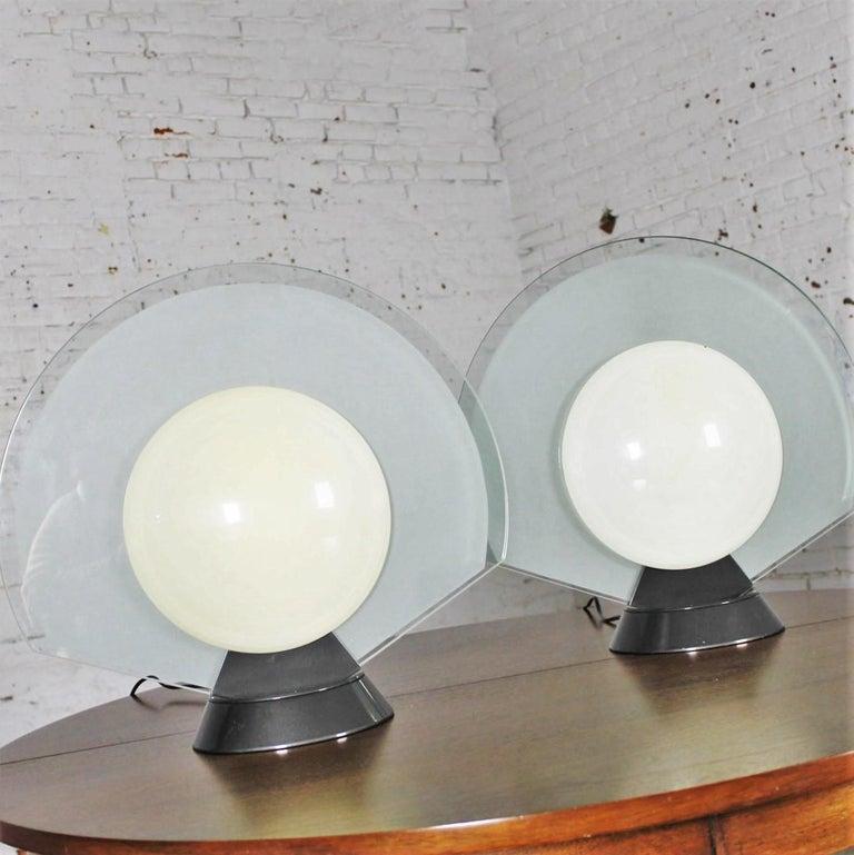 Vintage Pair Tikal 1555 Table Lamps by Pier Giuseppe Ramella for Flos-Arteluce  For Sale 2