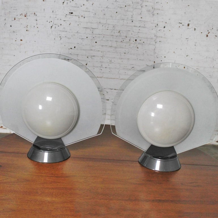 20th Century Vintage Pair Tikal 1555 Table Lamps by Pier Giuseppe Ramella for Flos-Arteluce  For Sale