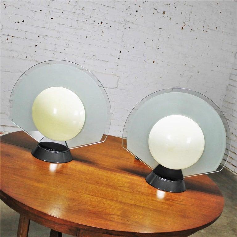 Metal Vintage Pair Tikal 1555 Table Lamps by Pier Giuseppe Ramella for Flos-Arteluce  For Sale