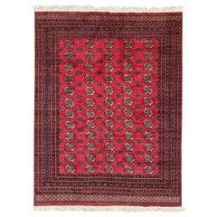 Vintage Pakistani Bokhara Design Rug