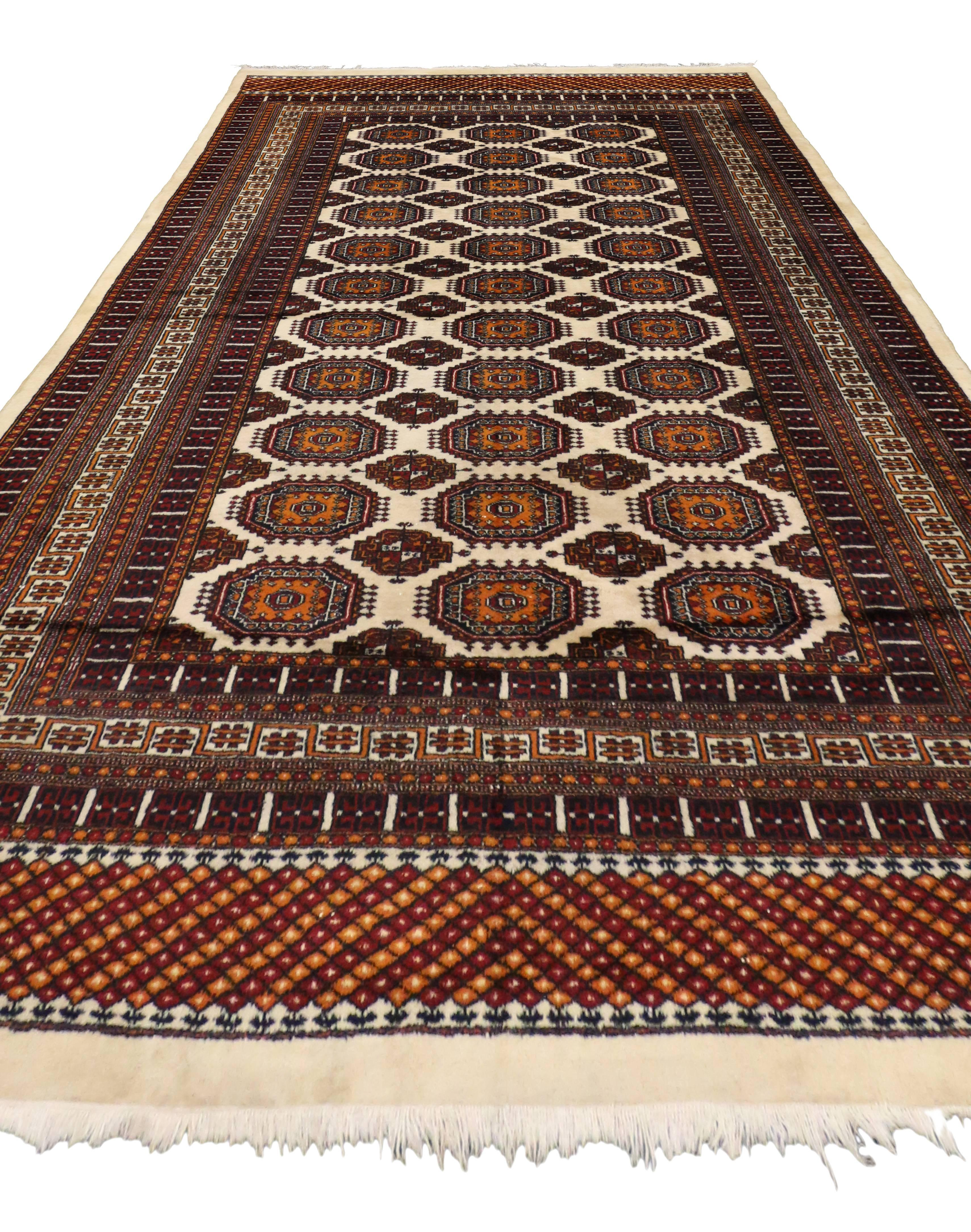 Vintage Pakistani Bokhara Rug With Modern Tribal Style For Sale At