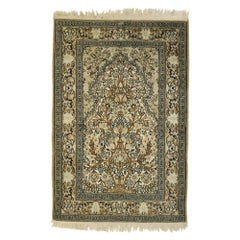 Vintage Pakistani Persian Style Prayer Rug with Directional Layout Design