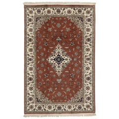 Vintage Pakistani Rug with Persian Design with Arabesque Arts & Crafts Style