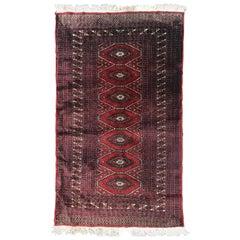 Vintage Pakistani Turkman Design Rug