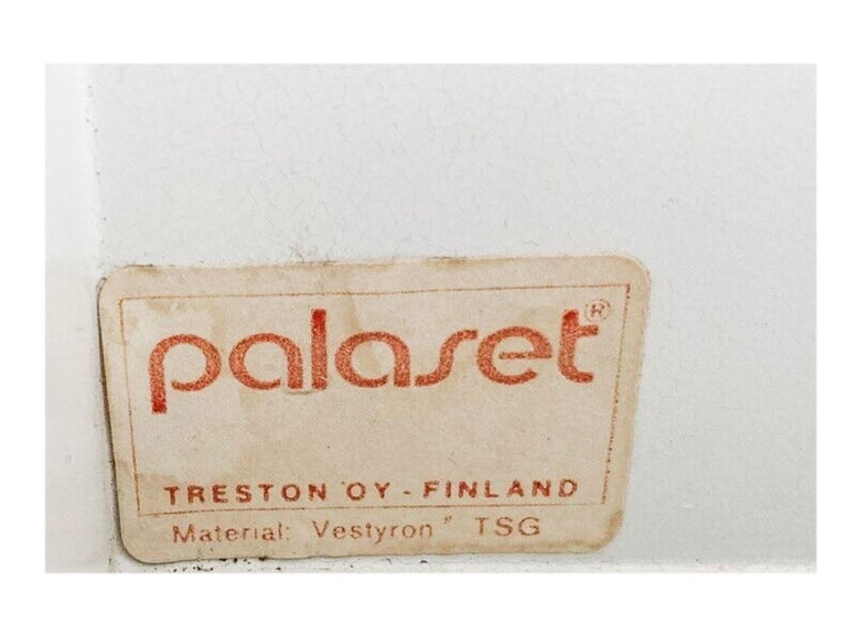 20th Century Vintage Palaset Palanox Modular Storage Box Set of 4, Green White, Finland, 1972 For Sale