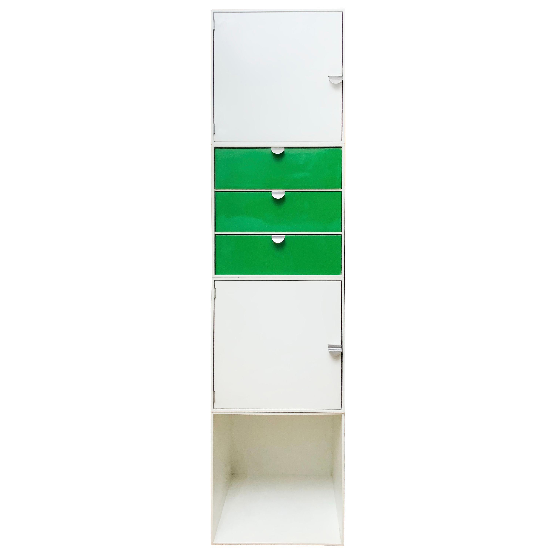 Vintage Palaset Palanox Modular Storage Box Set of 4, Green White, Finland, 1972