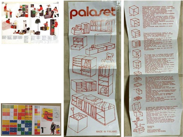 Scandinavian Modern Vintage Palaset Palanox Modular Storage Box Set of 8, Trenton Oy, Finland, 1972 For Sale