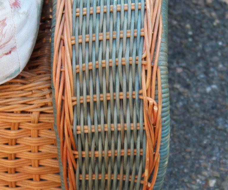 Vintage Palecek Bamboo Rattan Wicker Porch Patio Room