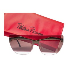 Vintage Paloma Picasso Avant Garde Gold Sunglasses Made in Germany 1980's